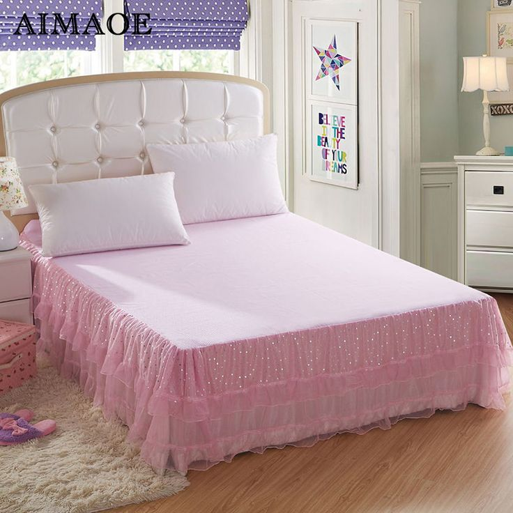 Bedding Sets bedspread Princess Lace Bed Skirts Mattress Cover Full Queen King size Free shipping