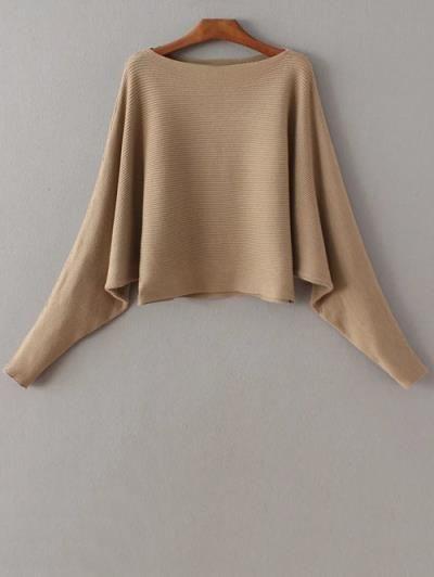 Manga del Batwing del suéter del cuello del barco