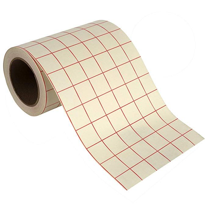 Angel Crafts Transfer Paper Tape Craft Transfer Tape For Vinyl Application With Red Grid Lines Self Adhesive Transfer Paper Roll Compatible With Cr Paper Tape Transfer Paper Paper Tape Crafts