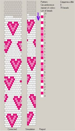 Website with 5 bead crochet rope charts