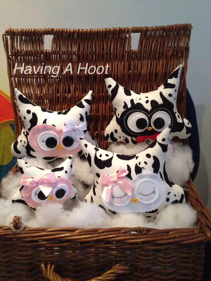 ❤️ Basket Full of Handmade ,Bespoke Panda Hoots ❤️