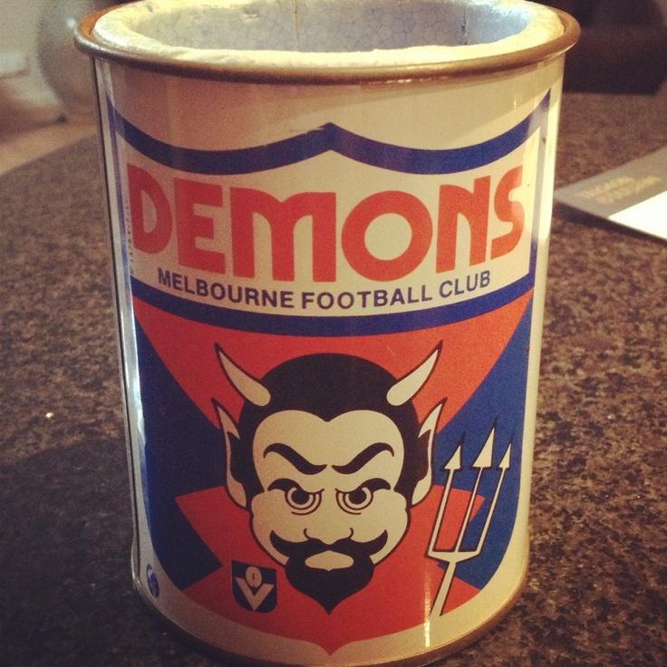 Vintage afl Melbourne demons stubby holder