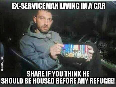 This is deplorable, especially since we bring in refugees and allow illegals to flood in and provide them with food, shelter, and benefits and a man that served his country and protected us and the Constitution can't get help! Shameful!!!! Liberal Democrats will help everyone as long as they are NOT hard working, patriotic Americans!!!