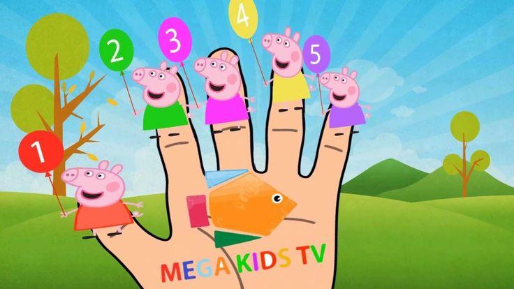 Finger Family Song Peppa Pig en español Spiderman Cartoon - Hombre araña...
