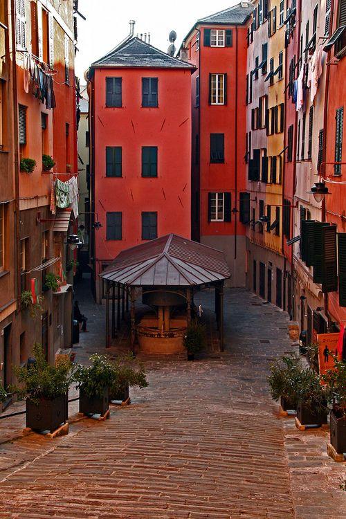 La Piazza dei Truogoli di Santa Brigida, Genoa, Italy