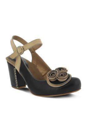 L'Artiste By Spring Step Women's Adorn Sandal Heel - Black - 36 Eu /