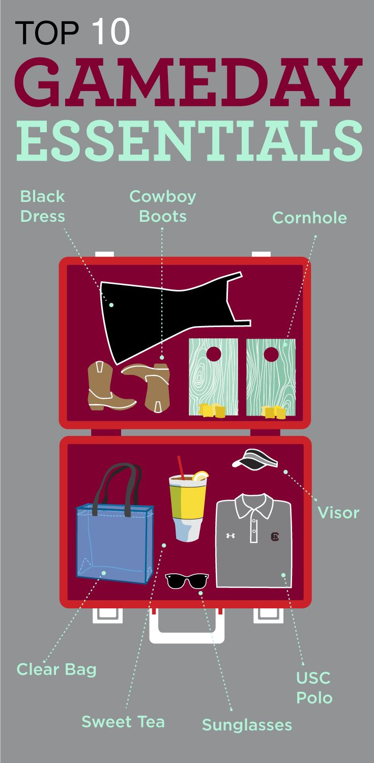 To have a great tailgate, remember to bring these 10 game day essentials. #Gamecock #football #gameday #essentials