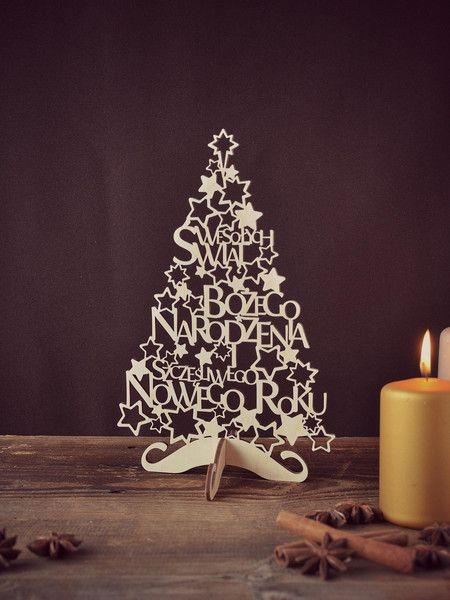 Choinka decoupage ozdoby świąteczne vintage w NIUS SHOP na DaWanda.com