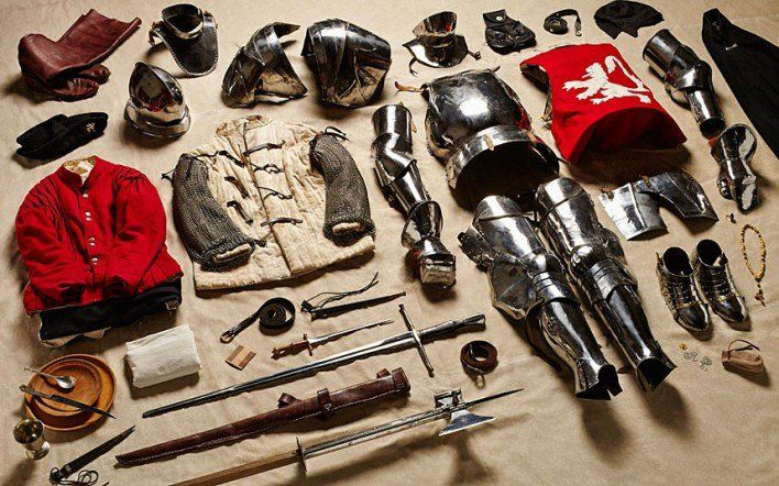 1485 Yorkist man-at-arms, Battle of Bosworth  'There's a spoon in every picture,' Atkinson says. 'I think that's wonderful. The requirement of food, and the experience of eating, hasn't changed in 1,000 years. It's the same with warmth, water, protection, entertainment.'