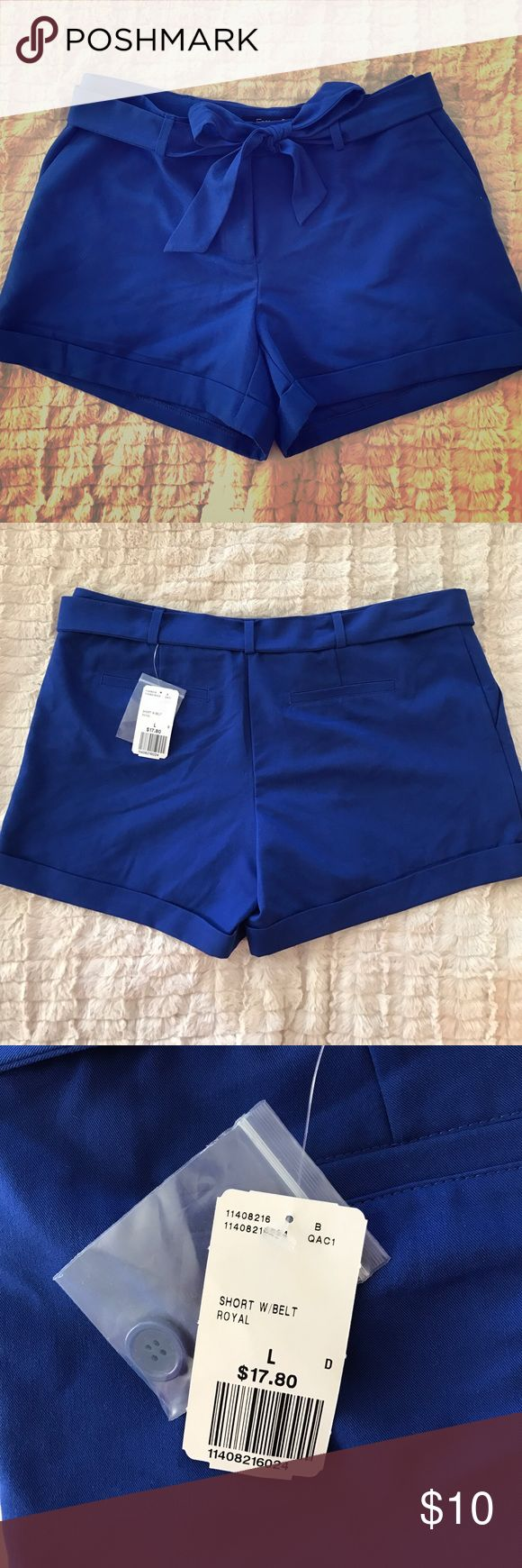 Belted Royal Blue Shorts Belted royal blue shorts from Forever 21. Tags still attached! Forever 21 Shorts