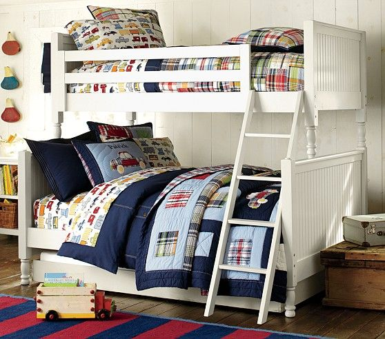 Catalina Cottage Twin Over Full Bunk Bed Pottery Barn