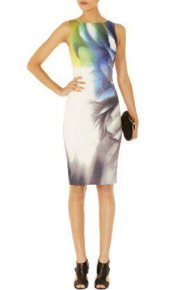 Karen Millen Smoky Placed Print Dress
