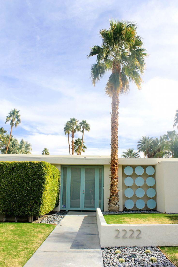 Palm Springs aqua door