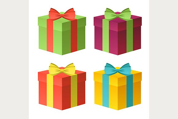 Check out colorful gift boxes icons by Kurokstas on Creative Market