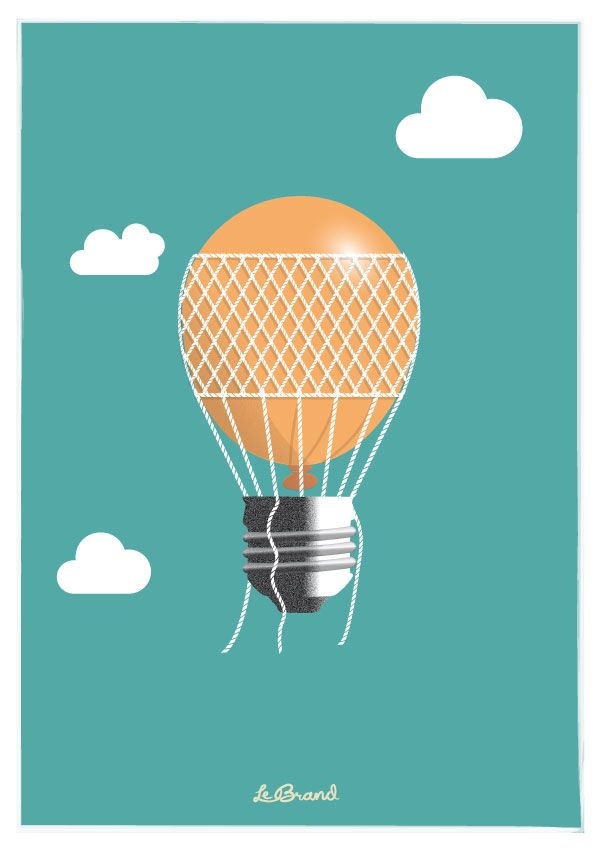 "Let'em fly!    Inspirational poster for Le Brand: ""Let'em fly"". Illustration by Anders Persson, Le Brand"