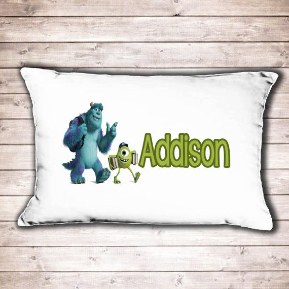 Monsters Inc Bedroom Pillow Case Personalised By CinnamonBayLtd, £7.99