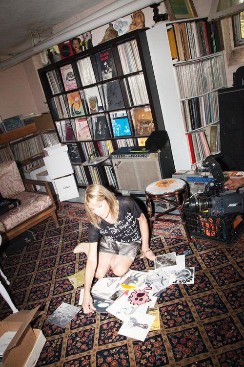 Kim Gordon in her Record Room