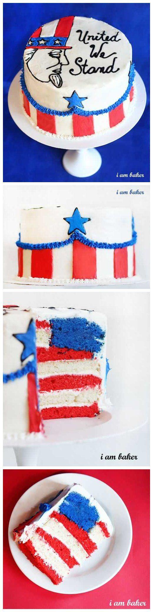 Fourth of July Cake {Surprise Inside Cake!}