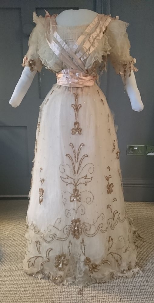 Enchanting c. 1910 / Edwardian Sequinned Evening Dress / Ball Gown ...