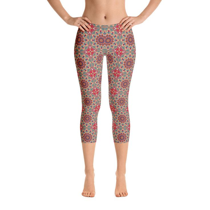 Excited to share the latest addition to my #etsy shop: Mista-Capri Leggings, Printful, USA https://etsy.me/2EJkVQ4 #clothing #women #pants #leggings #printedleggings #modernpants #modernleggings #pattern #myprinton