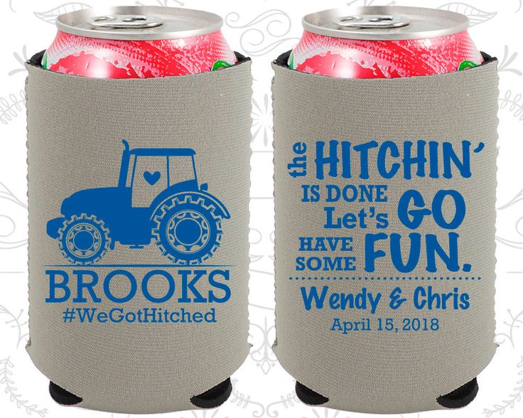The Hitchin is Done, Lets go have some fun, Neoprene Wedding, Farm Wedding, Country Wedding, Tractor Wedding, Neoprene Wedding Favors (548)