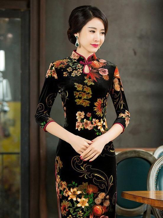 d5815627392 #Chinese clothing# #Chinese dress# #Cheongsam# #Qipao# (www.goodorient.com)