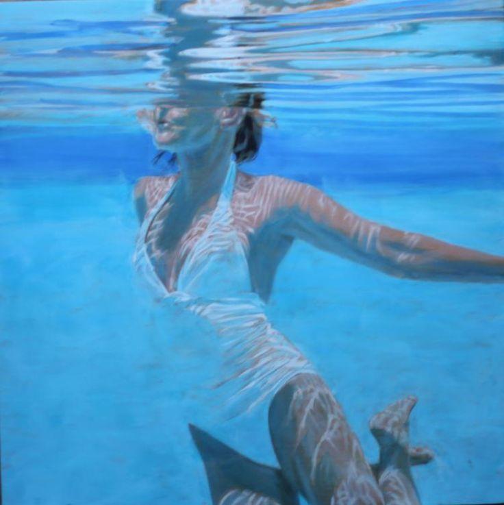 "Carol Bennett, ""Dissolve"", 36 x 36, Oil on Panel | Eisenhauer Gallery of Edgartown, MA"