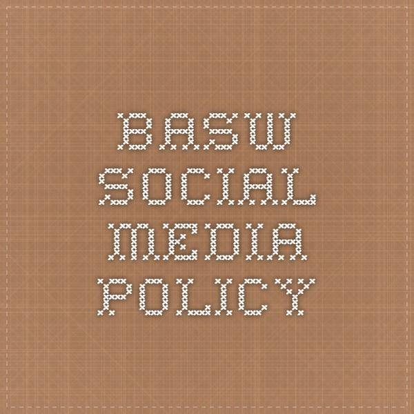 BASW social media policy