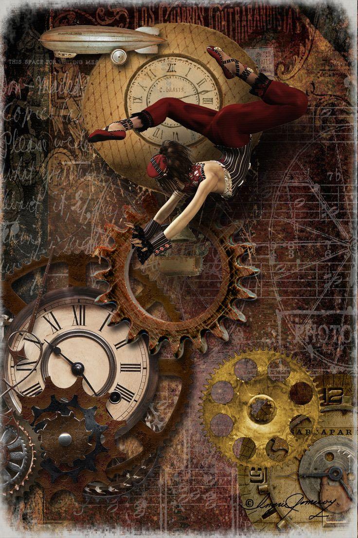 Steampunk Circus Digital Collage