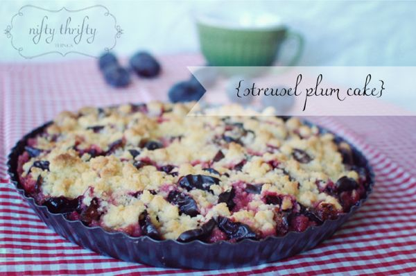 {german plum cake with streusel} I can't wait to try this next summer with fresh Zwetschken!