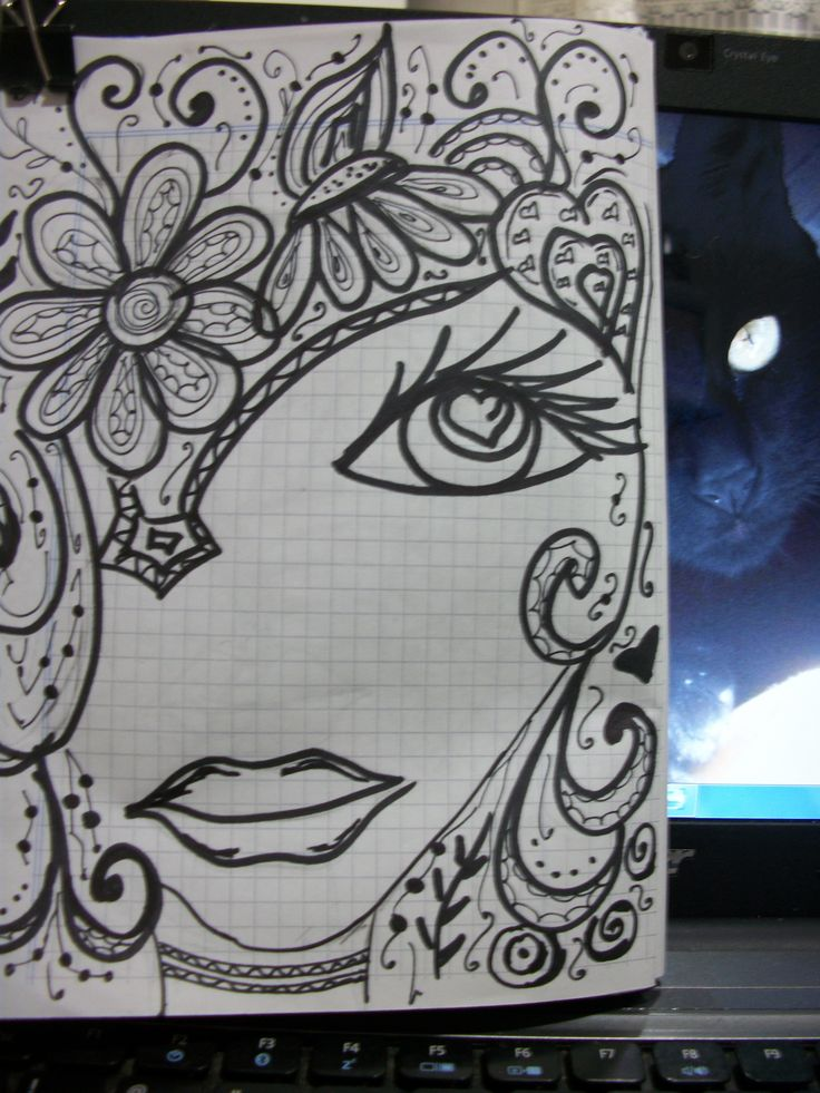 100 best faces images on pinterest zentangle faces and for Doodle art faces