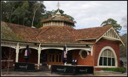 The 'Pavilion' building is over 100 years old, originally it used for bathing, in summer the floor space was filled with mineral water, in winter it was used for dances and for community events. It is now used for a cafe and it is a delight to visit.