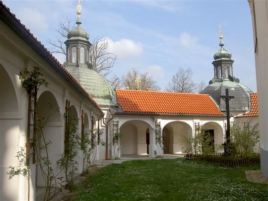 Tábor - cloister at the Klokoty monastery
