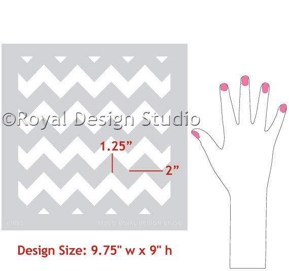 This stencil would make it easier to paint the chevron stripes for sure! Stencil by royaldesignstencils, $18.00