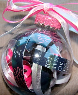 Homemade Christmas Ornaments - This would be cute with Bazzill's Believe Paper inside.