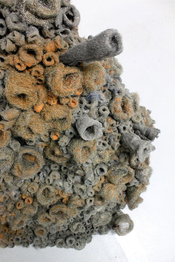 Ann Marie Hadcock steel wool sculpture