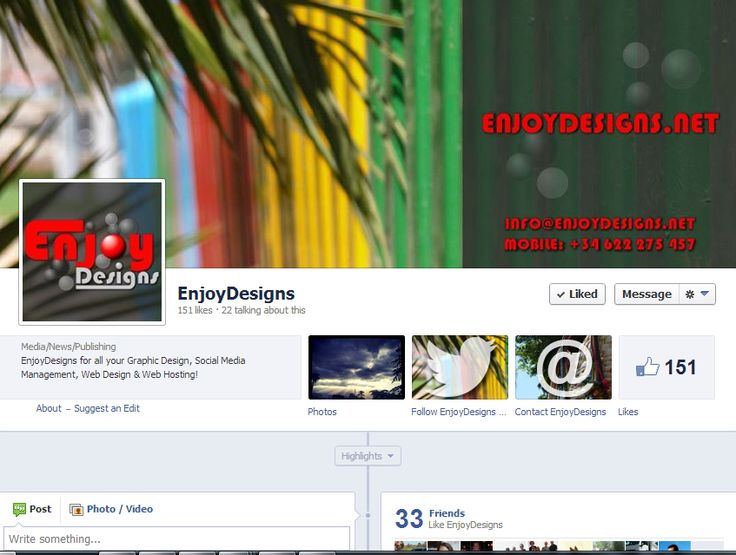 EnjoyDesigns Facebook page by www.enjoydesigns.net