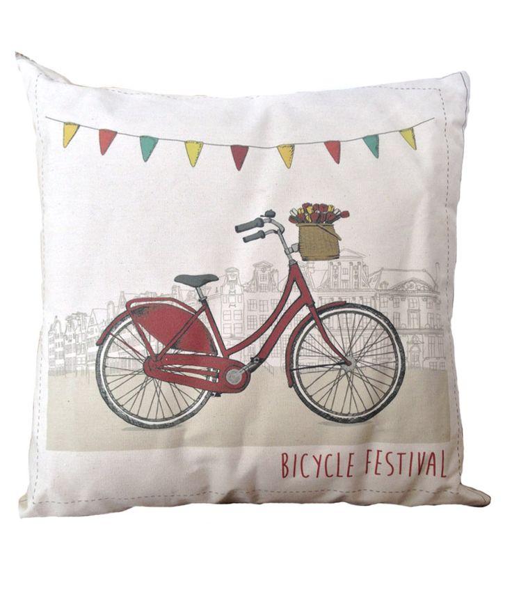 Regalos que encantan: Cojín Verde Menta Bicycle Festival en Dekosas.