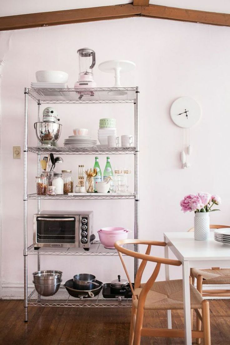 How to Make the Most of Your Space: wire storage rack #theeverygirl