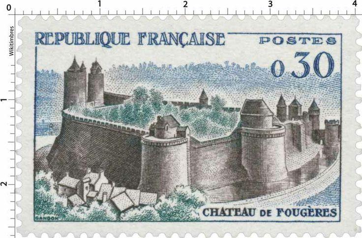 Timbre : CHÂTEAU DE FOUGÈRES | 1960