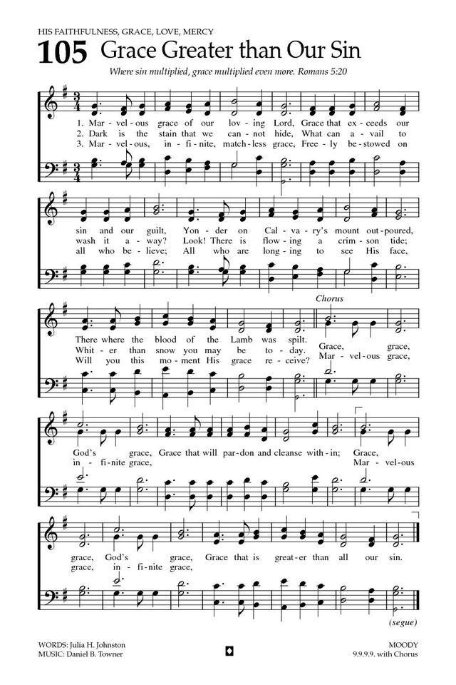 wonderful grace of jesus sheet music pdf