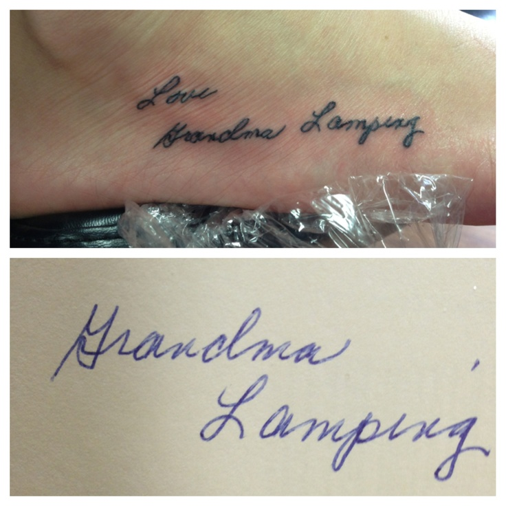 Tattoo Of My Parents Signature From A Card: 25+ Best Ideas About Grandparents Tattoo On Pinterest
