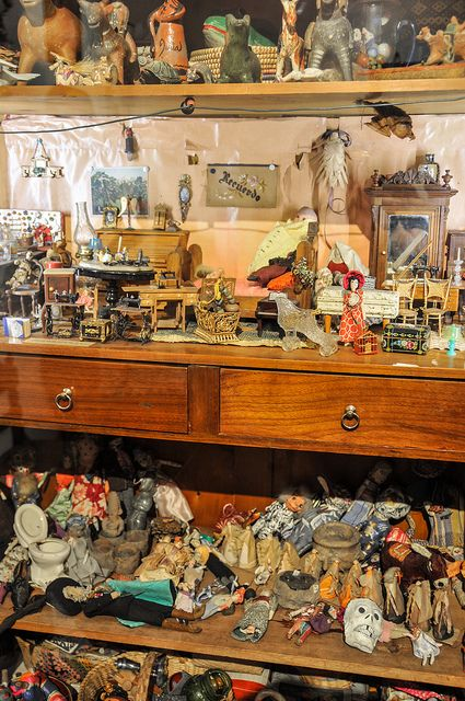 Frida's collection of Dolls & Miniatures at Casa Azul (Frida Kahlo Museum)~Image © Joshua Bousel