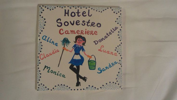 Tegel voor de kamermeisjes van Hotel Sovestro