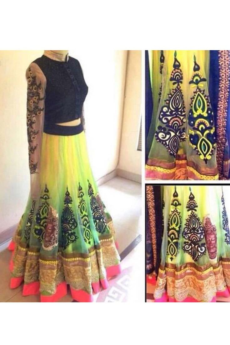 Buy Yellow Georgette Net Designer Lehenga Online in low price at Variation. Huge collection of Designer Lehenga, Wedding Lehenga, Lehenga Choli, Ghaghra Choli, Bollywood Lehenga and Bridal Lehenga online for women at Variation. #designer #designerlehenga #lehenga #onlineshopping #latest #lowprice #variation  #weddinglehenga #lehengacholi #bollywoodlehenga #bridallehenga. To see more - https://www.variation.in/collections/lehenga