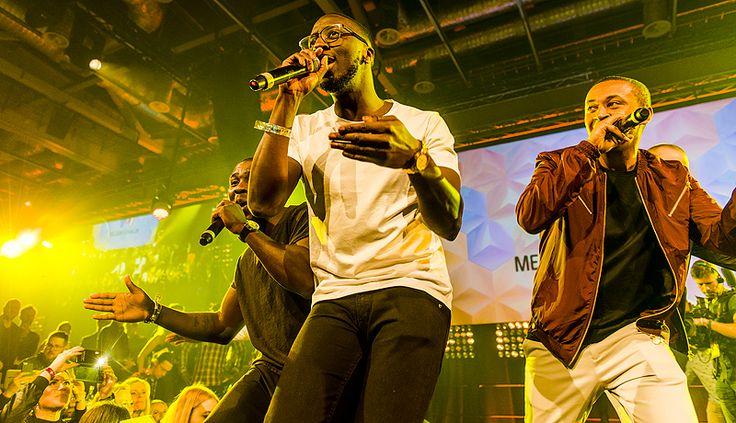 Panetoz på Melodifestivalens finalefterfest i Stockholm.
