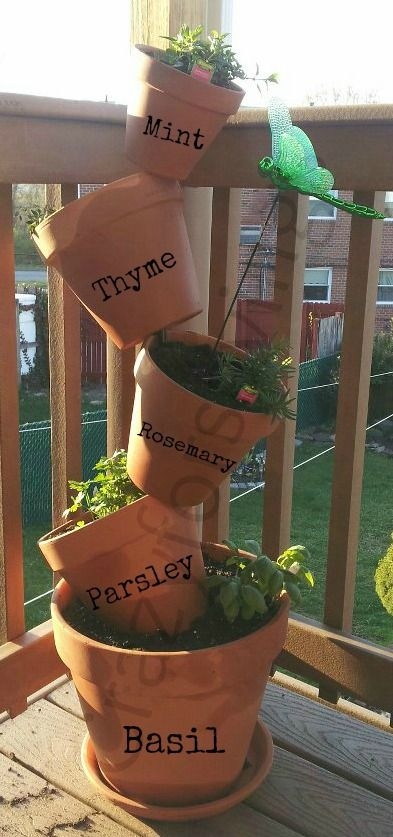 Gardening to repel bugs- I got my herbs to plant and label