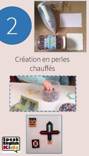 Une idée d'activité créative : le porte-clé en perles Hama