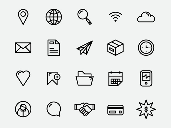 Free Simple Icon Set