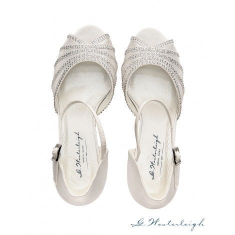Jessica by G Westerleigh Ivory Wedding or Occasion Shoes